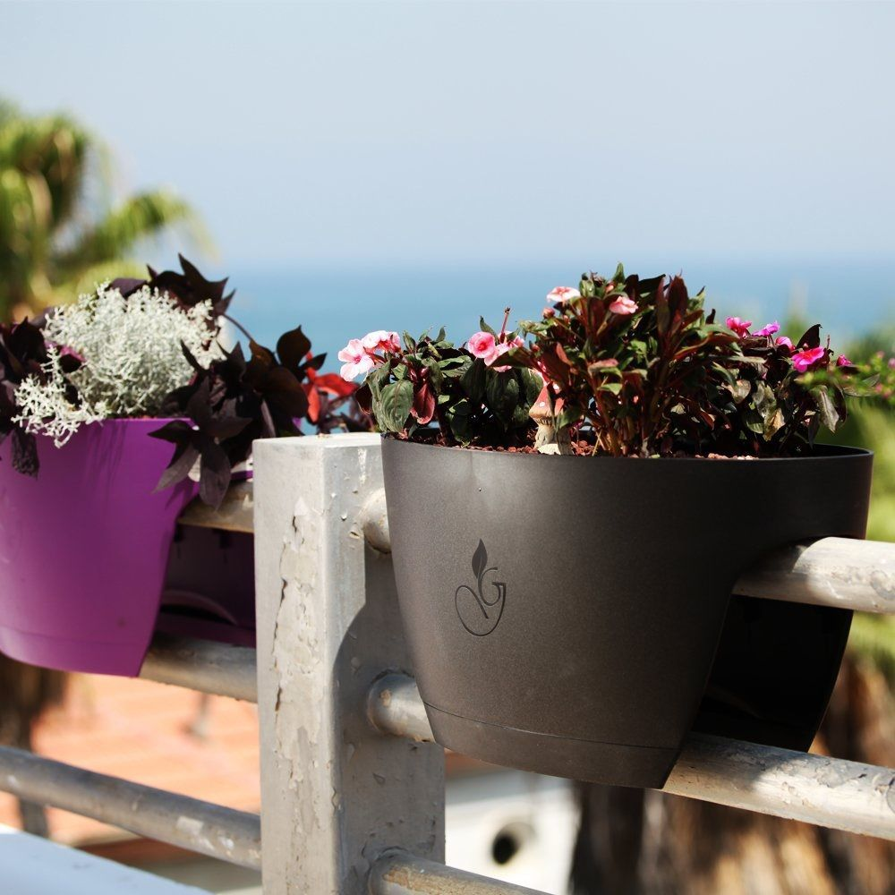 Modern Railing Planters Custom By Rushton: Greenbo Railing Planter » Gadget Flow