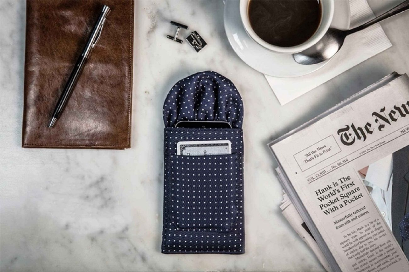 Meet Hank – A Pocket Square With a Pocket For Your Pocket