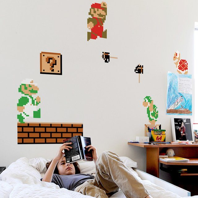 Super Mario Bros Nintendo Wall Graphics