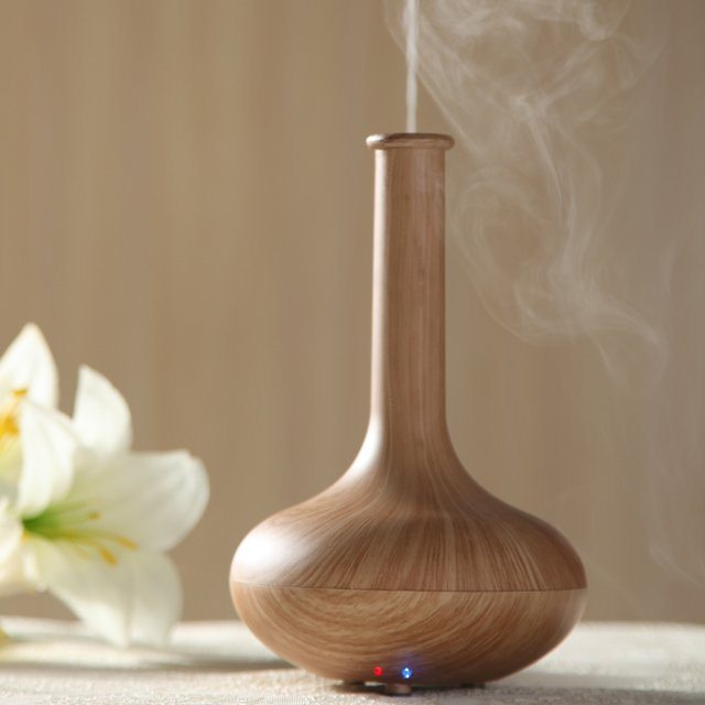 Ultrasonic Oil Diffuser ~ Woodgrain ultrasonic aromatherapy diffuser review the