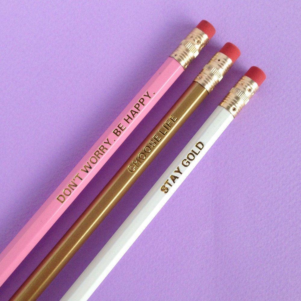 Anchorman Engraved Pencils