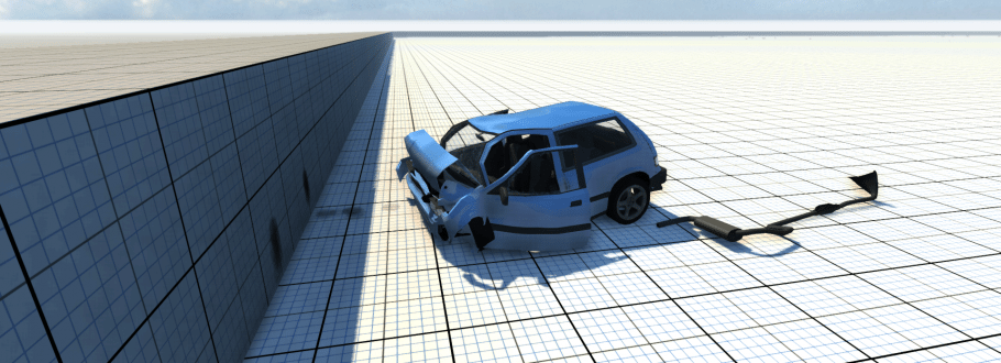 BeamNG Drive Takes Car Damage and Drives It to a Brand New Level, Leaving Pieces Along the Way