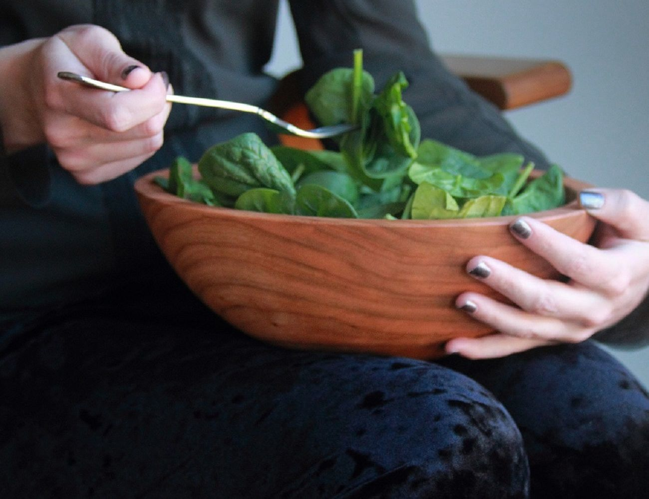 Cherry Wood Salad Bowls