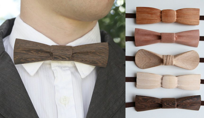 Carved+Wooden+Bow+Ties