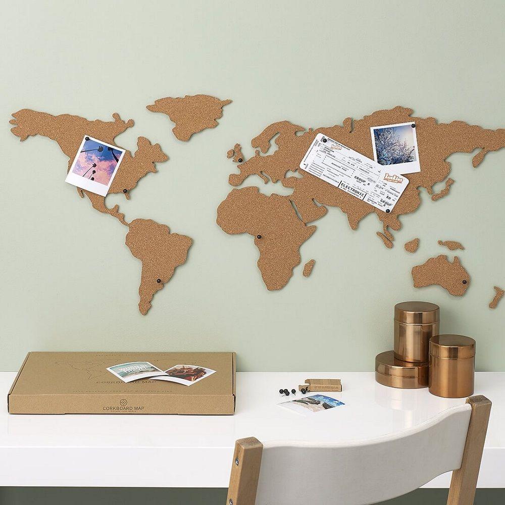Cork Board Map