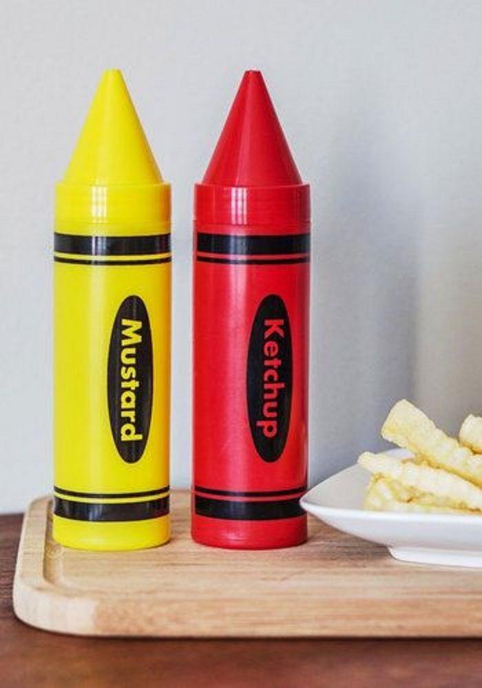 Crayums Ketchup & Mustard Bottles