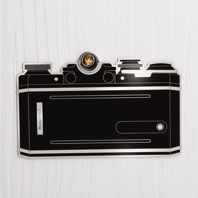 Eye Spy Peephole Camera Sticker Door Décor Decal