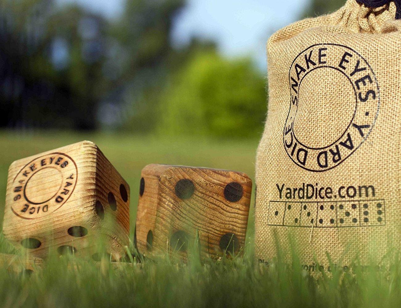 Giant Wood Yard Dice