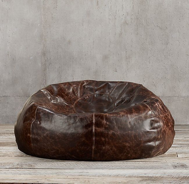 Grand Leather Bean Bag Chair 187 Gadget Flow