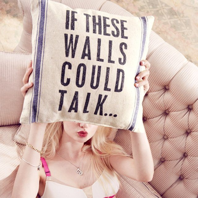 If These Walls Could Talk Linen Pillow