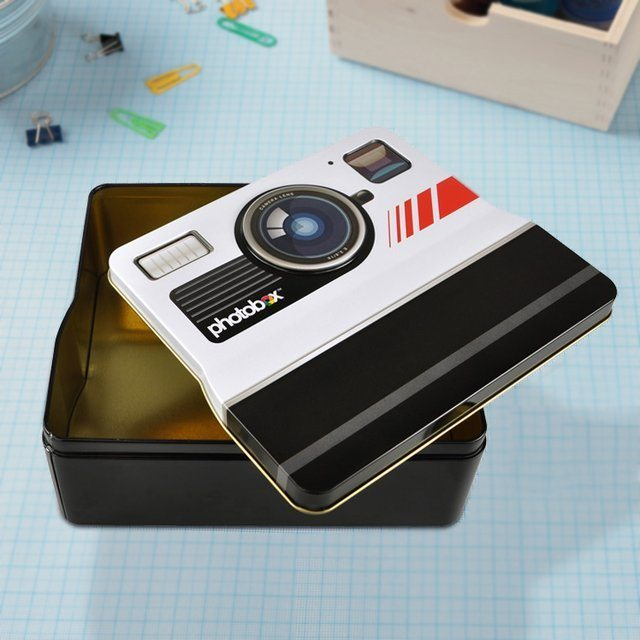 Photobox Retro Shaped Camera Tin