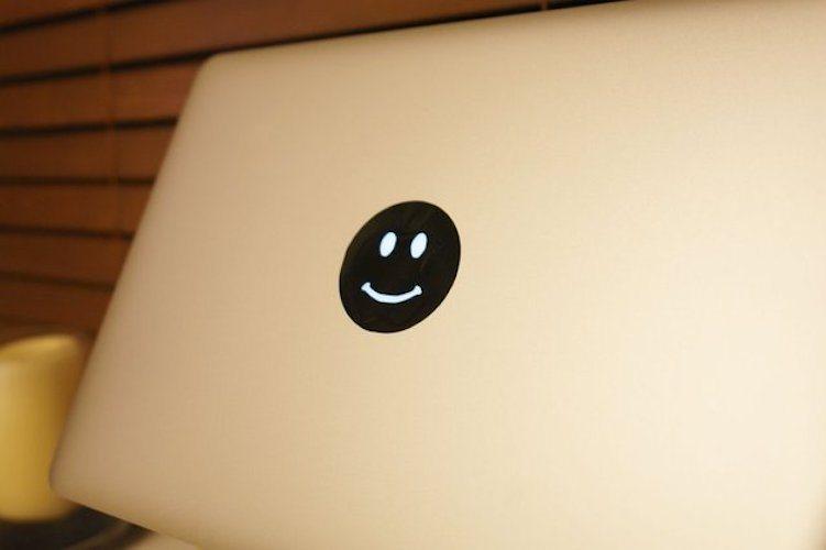 Smiley Face MacBook Decal