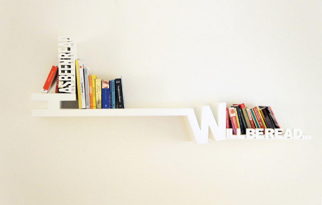 Typographic Bookshelf