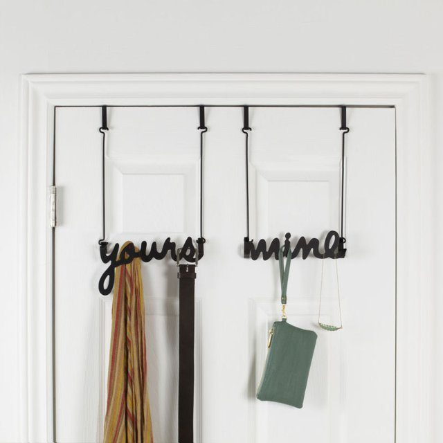Yours & Mine Over-the-Door Hook