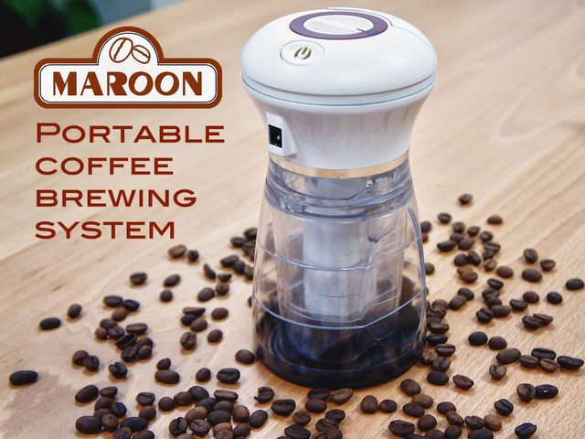 Maroon Portable Coffee Brewer