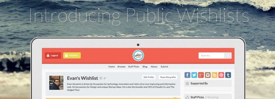 Introducing Version 4.3 With Public Wishlists & New Menu Design