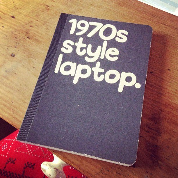 1970's Style Laptop Notebook