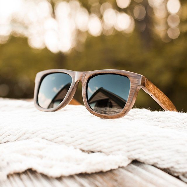 Bamboo+Wayfarer+Sunglasses