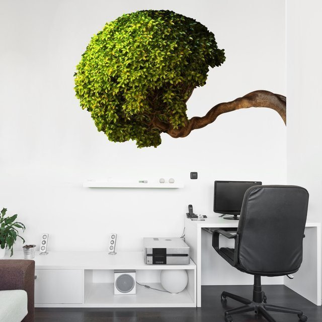 Fancy Bowing Tree Wall Decal