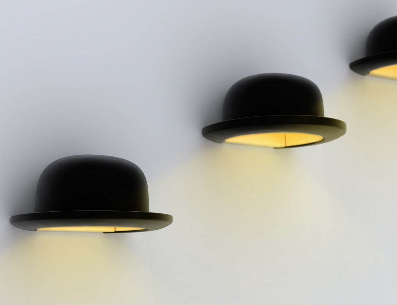 Jeeves+Bowler+Wall+Light