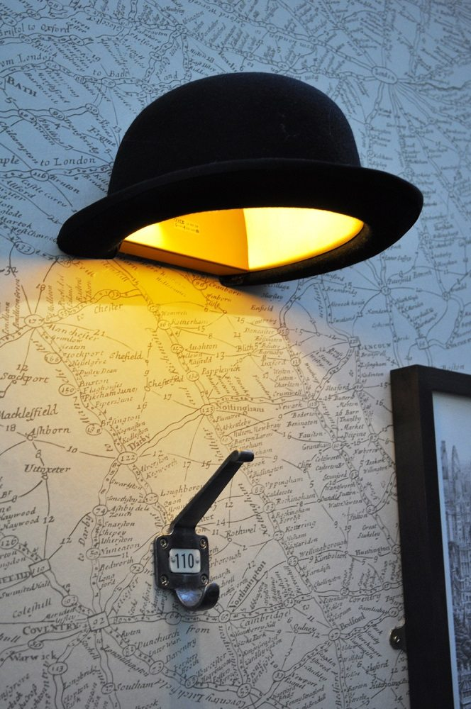 Jeeves Bowler Wall Light