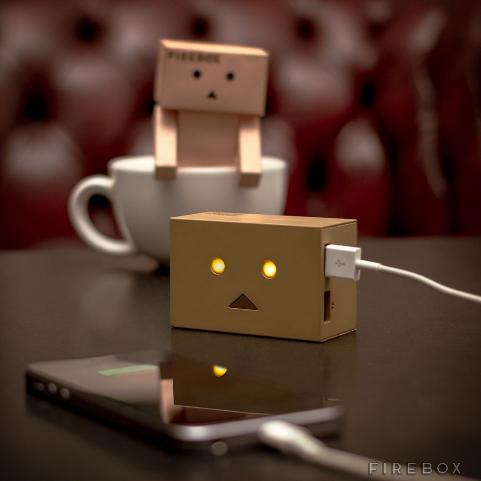 Robot+Head+Portable+Charger