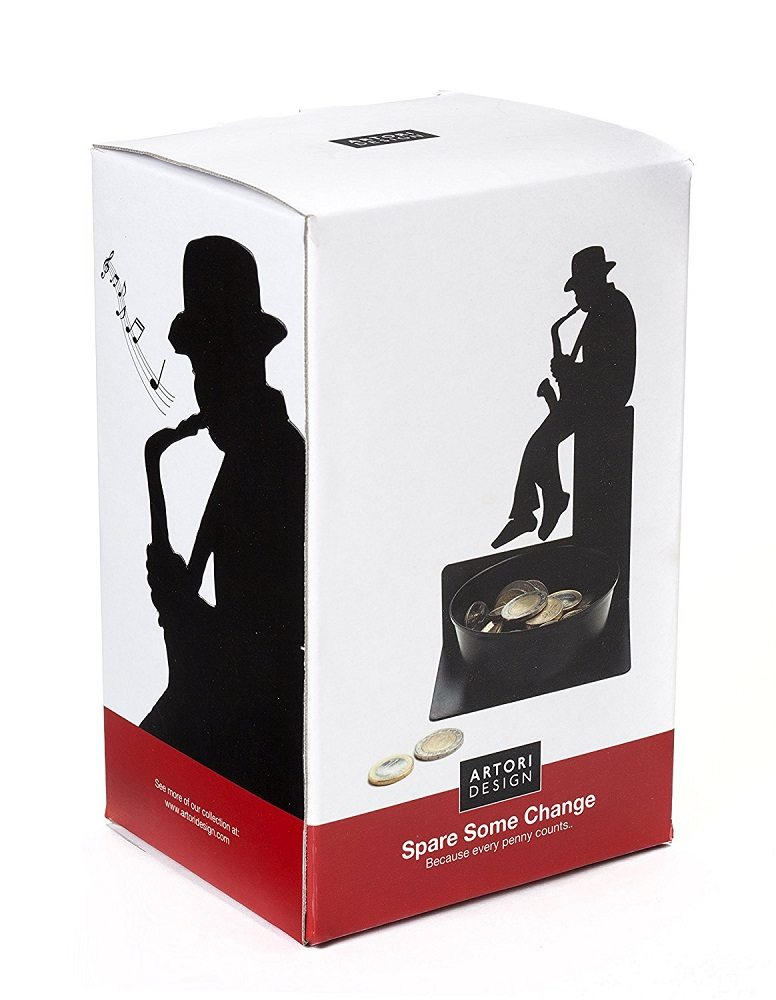 Spare Some Change Saxophonist Coin Holder