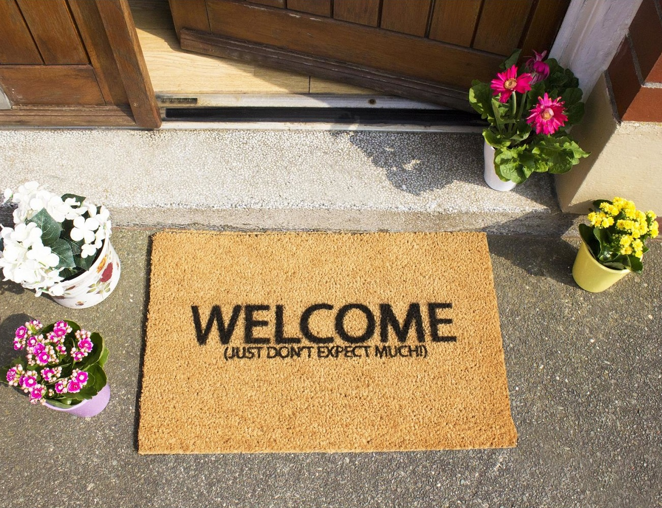 Welcome Door Mat Asian Style Welcome Doormat Imports