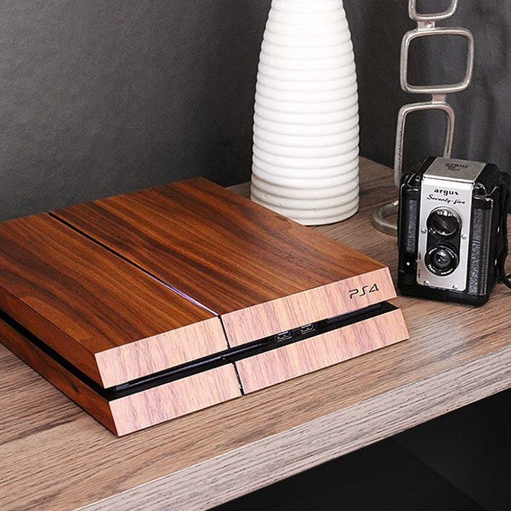 Wooden+Cover+PlayStation+4