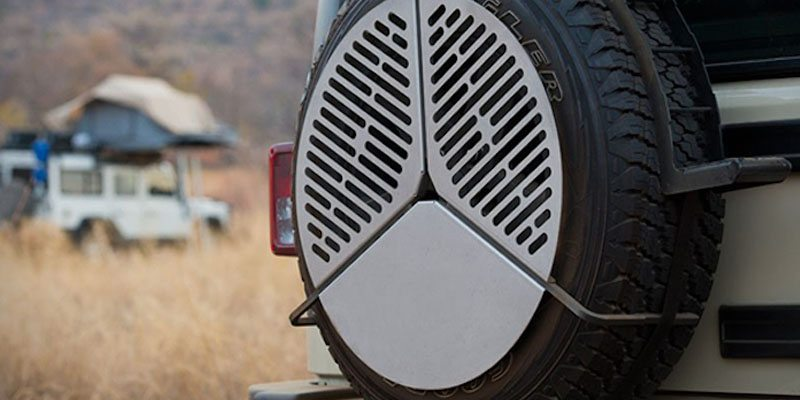 Spare Tire BBQ Grate on The Gadget Flow