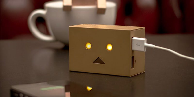 Robot Head Portable Charger on The Gadget Flow