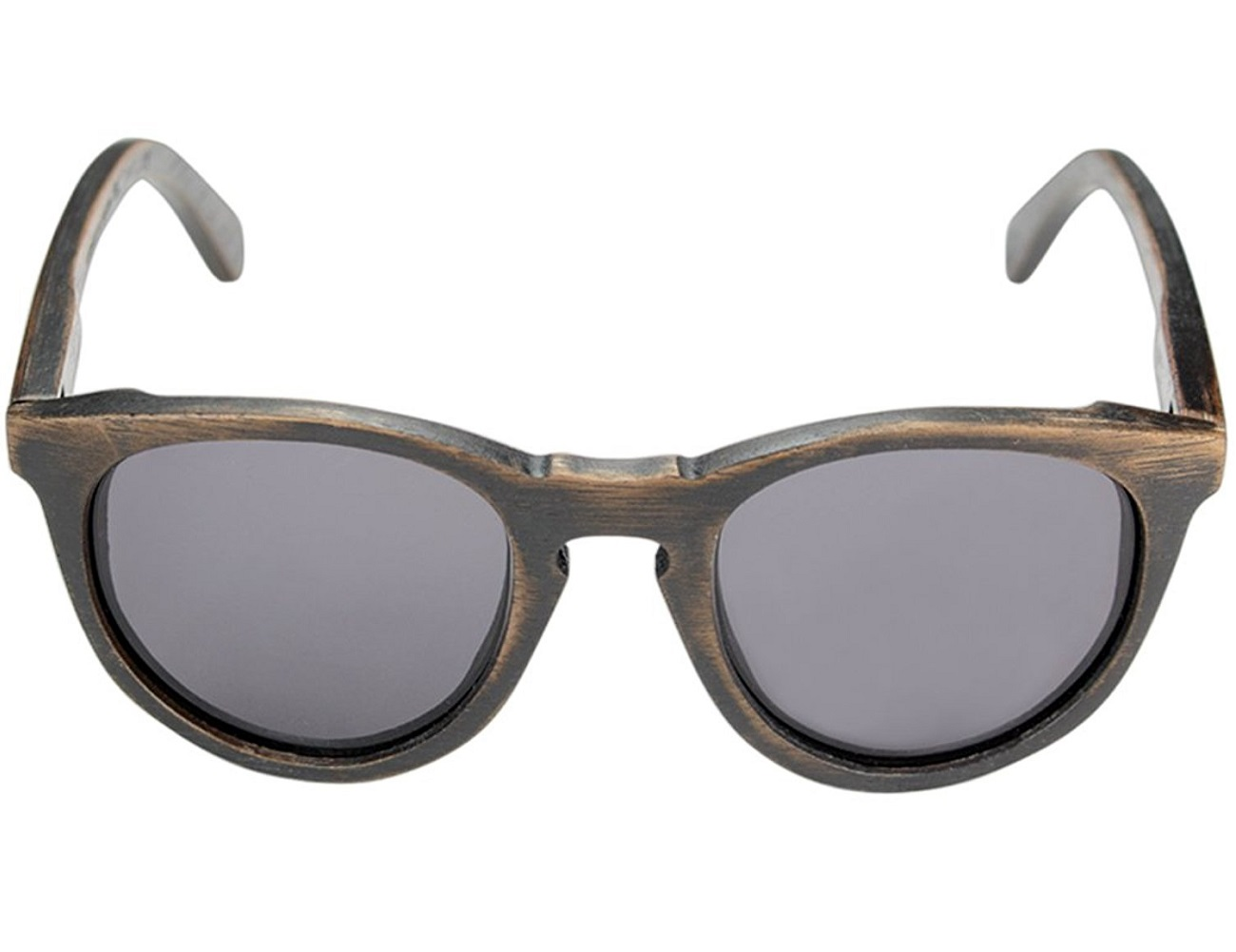 Belmont+Dark+Walnut+And+Grey+Wooden+Sunglasses