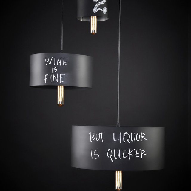 Chalkboard Pendant Lights by John Beck Steel