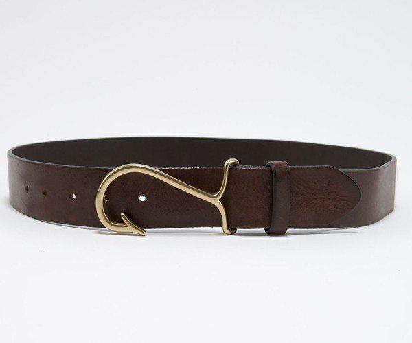 Fish Hook Leather Belt