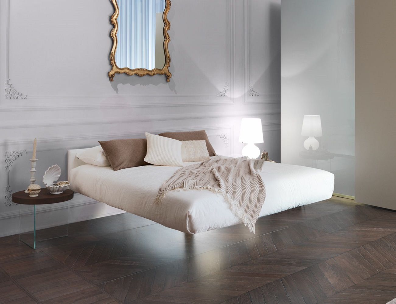 Fluttua Floating Bed by Daniele Lago loading=