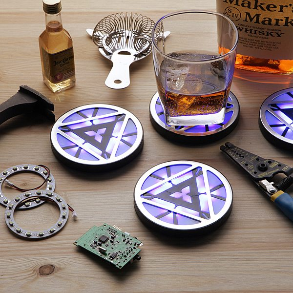 Marvel Iron Man 3 Arc Reactor Light-Up Coasters