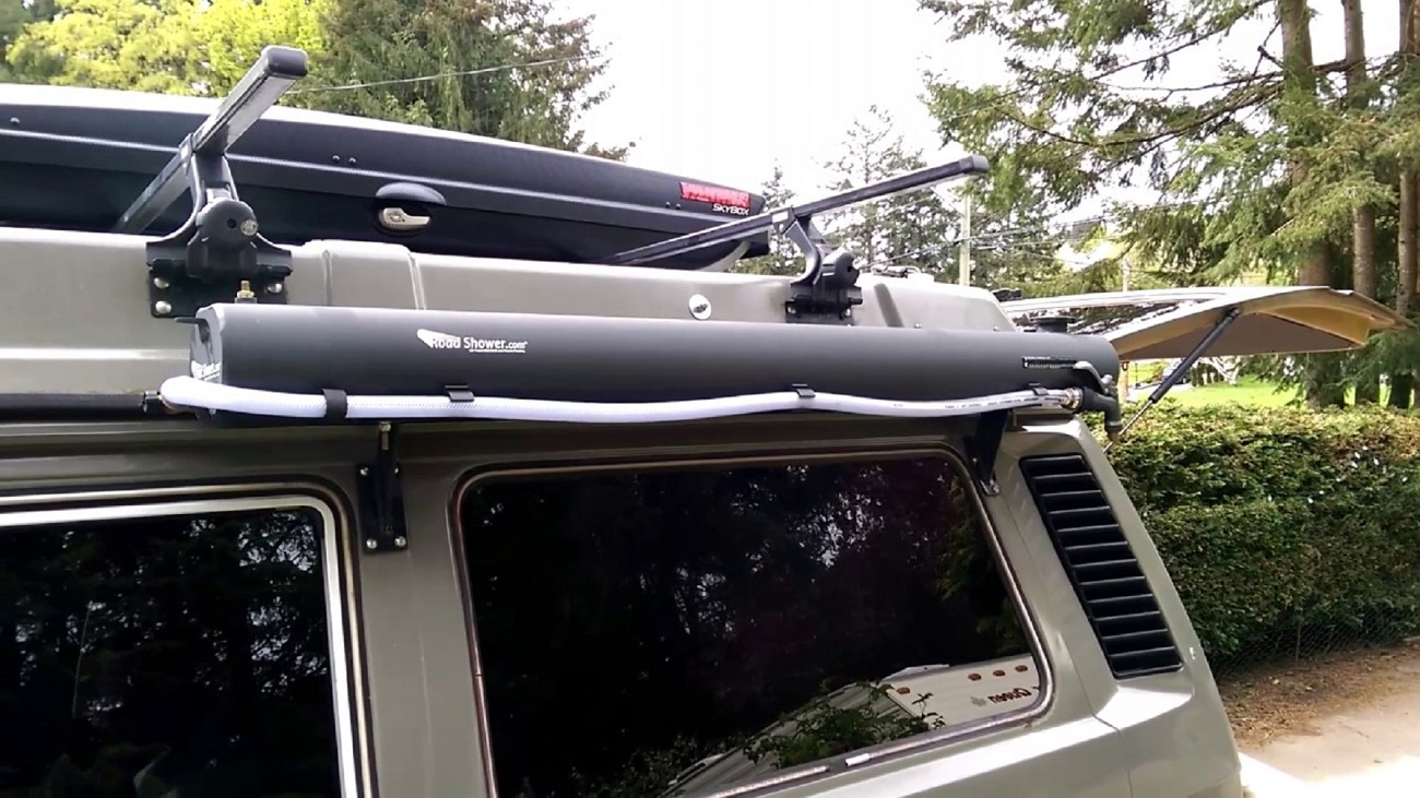 Solar Heated Roof Rack Road Shower 187 Gadget Flow