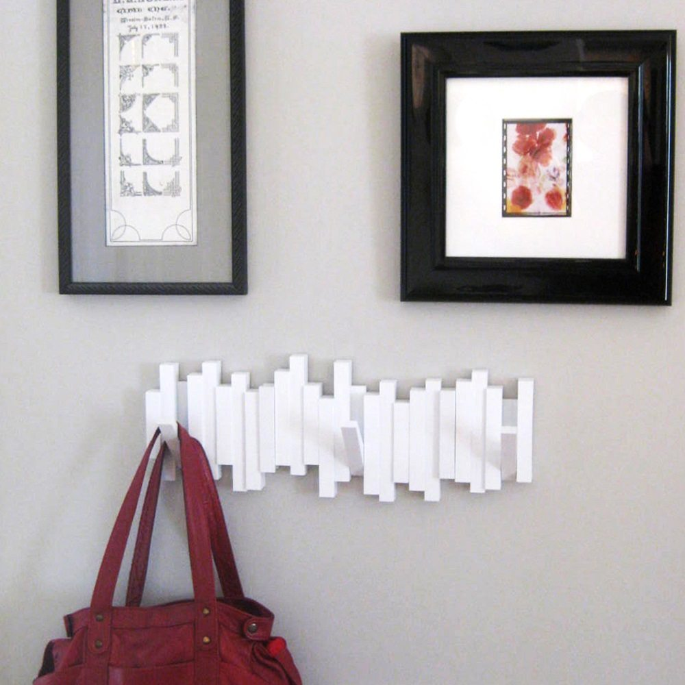 Sticks Wall-Mount Rack with Five Hooks