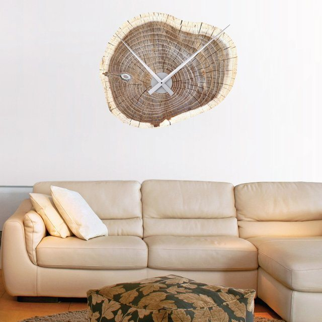 Woodsman Clock Wall Decal