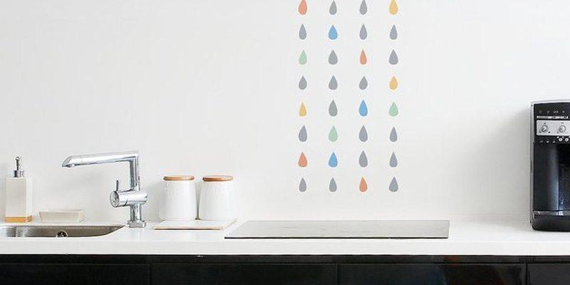 Eco-Friendly Rain Wall Decal