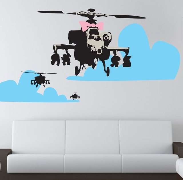 banksy-happy-chopper-wall-decal