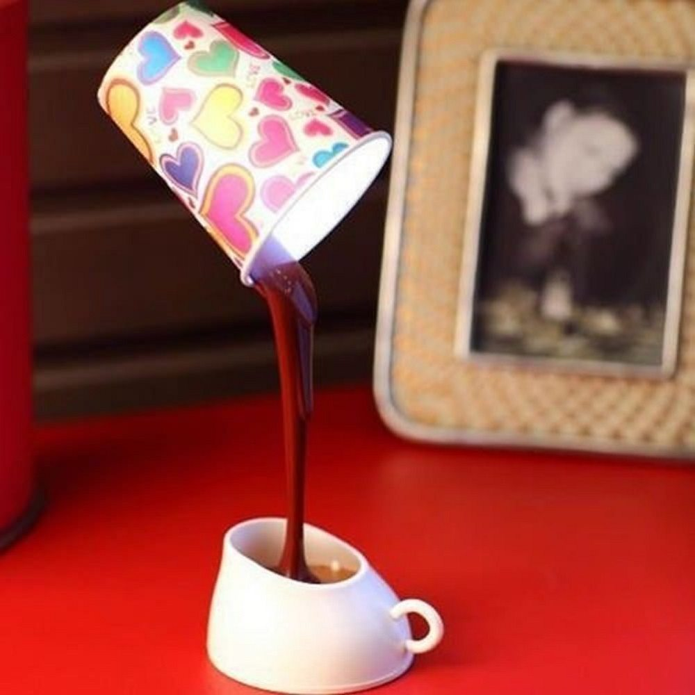 Coffee Cup LED Light Desk Table Lamp