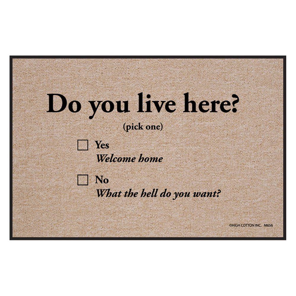 Do You Live Here Doormat