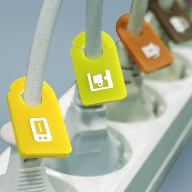Kitchen Cable Organizer Plug Tags