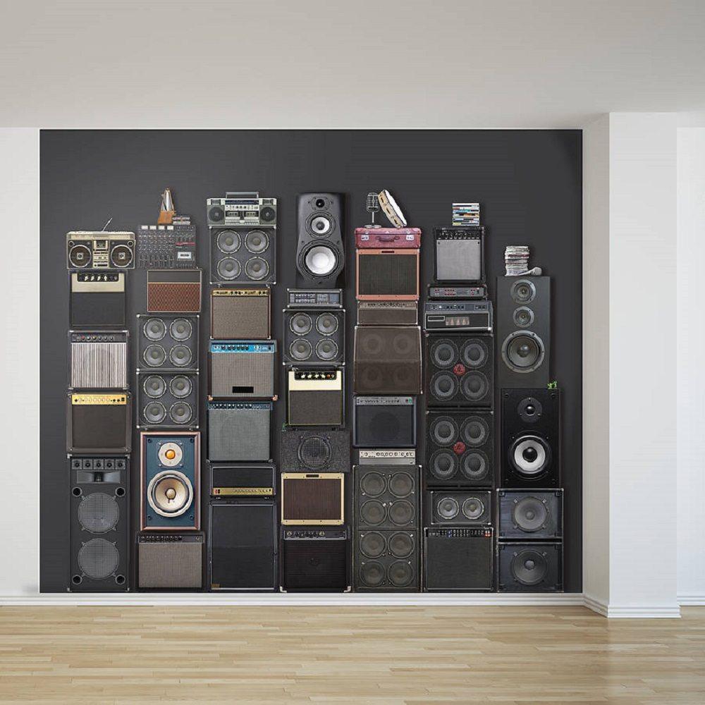 Music Speaker Stack Wallpaper