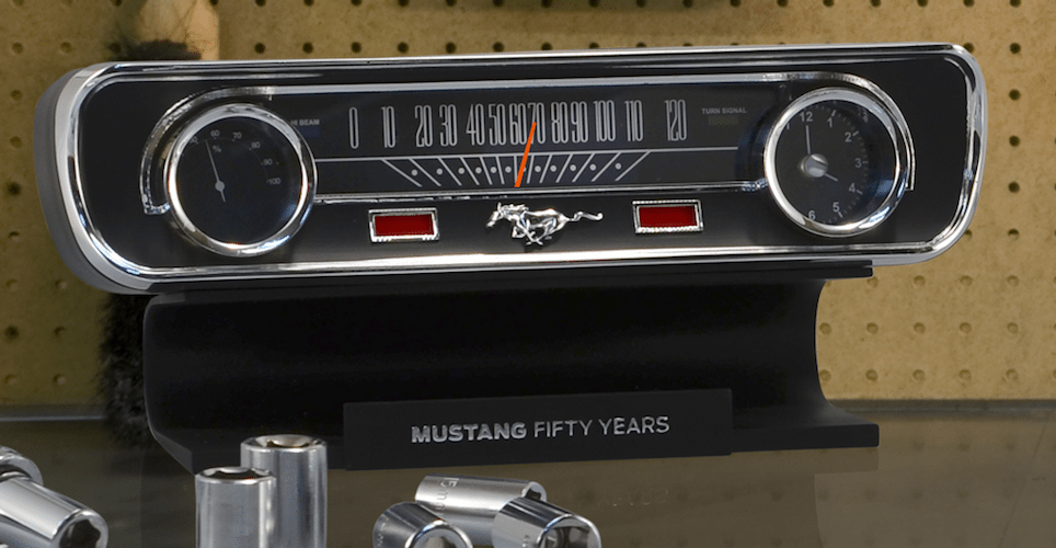 Mustang+50th+Anniversary+Desktop+Sound+Clock+Thermometer