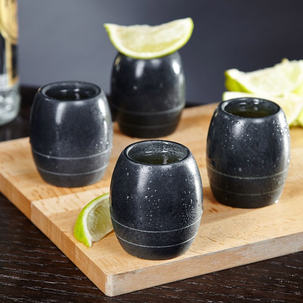 SPARQ Soapstone Tulip Shot Glass Set