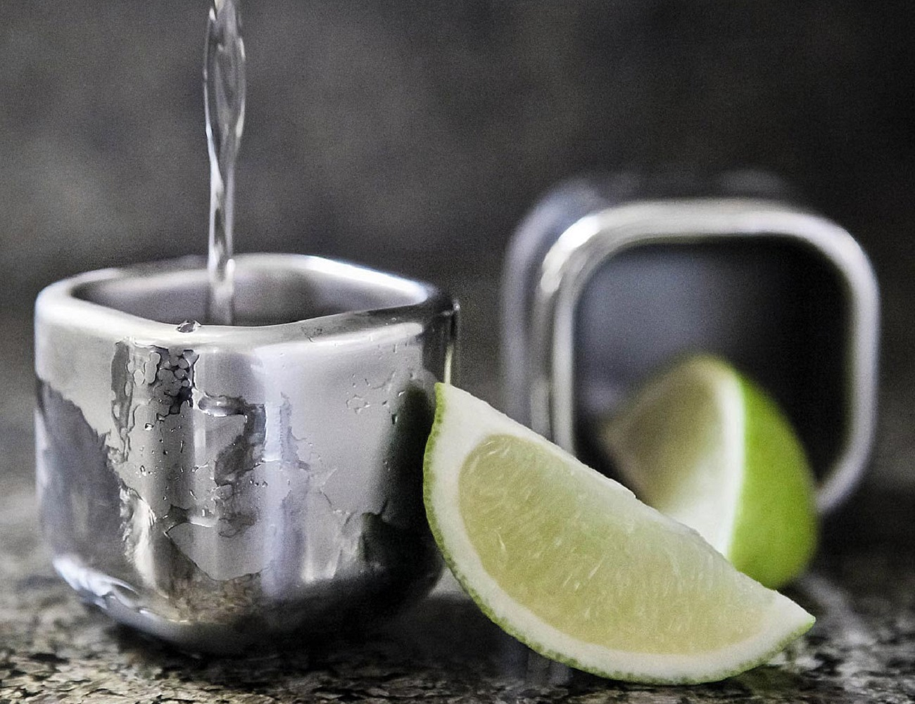 Stainless Steel Freezable Shot Glasses