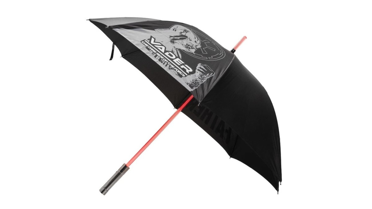 Star Wars Dark Side Lightsaber Umbrella ensures the Force is with you when it's raining