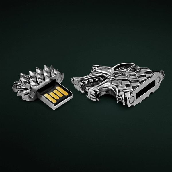 Protect your digital data using the sigil of House Stark itself by refashioning your age old flash drives with this Stark Direwolf USB Flash Drive.